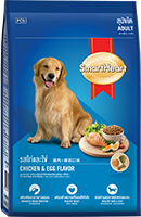 SMARTHEART ADULT DOG FOOD CHICKEN AND EGG FLAVOR
