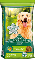 CLASSIC PETS DRY DOG FOOD CHICKEN & VEGETABLE FLAVOR