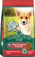 CLASSIC PETS TOY BREED FOOD BEEF FLAVOR