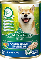 CLASSIC PETS CANNED DOG FOOD CHICKEN AND LIVER