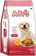 A PRO DRY DOG FOOD GRILL CHICKEN FLAVOR