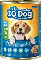 IQ CANNED DOG FOOD CHICKEN AND RICE