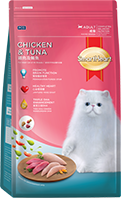 SMARTHEART ADULT CAT FOOD CHICKEN AND TUNA FLAVOR