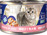 CLASSIC PETS CANNED CAT FOOD-SARDINE IN JELLY