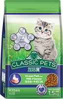CLASSIC PETS KITTEN FOOD OCEAN FISH AND MILK FLAVOR