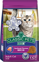 CLASSIC PETS DRY CAT FOOD SEAFOOD FLAVOR